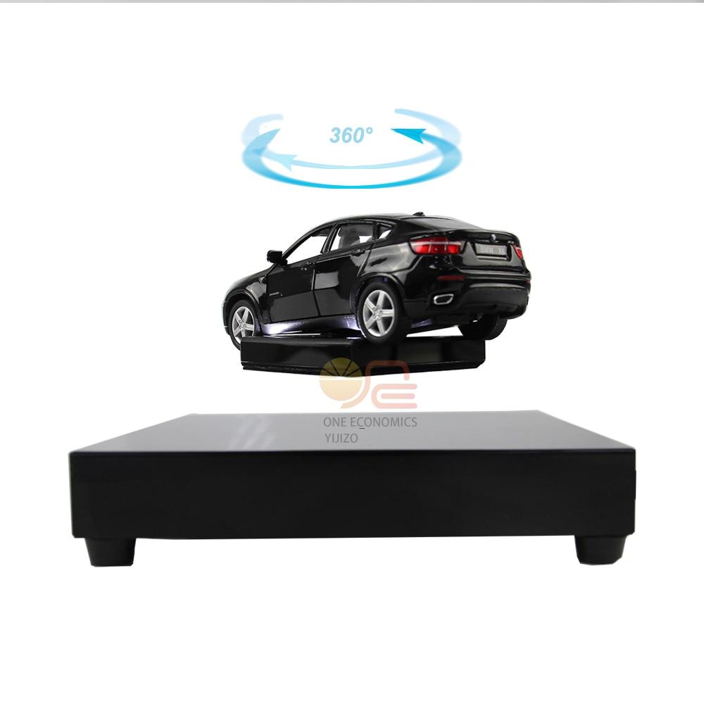 360 Degree Rotating Magnetic Display Base Floating Show Shelf Platform LED Light Holder Mount Panel Display Base Shelf Bracket