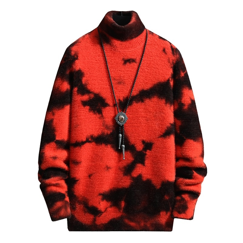 Mink Cashmere Turtleneck Men Sweater Hip Hop Male Thick Pullovers Soft Warm Pull Homme 2020 Winter Mens High Neck Pull Sweaters