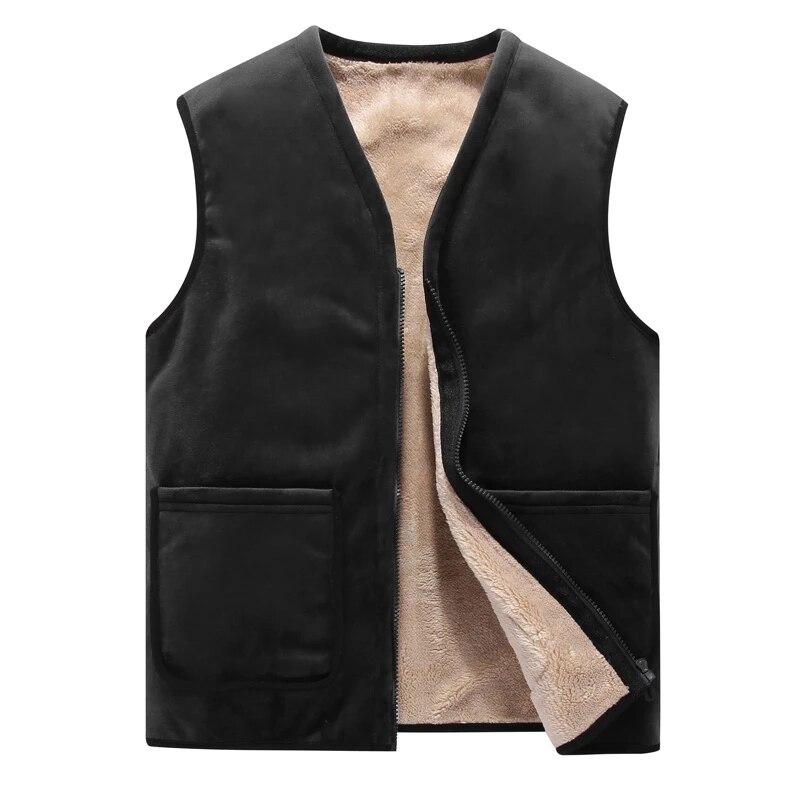 Зимние мужские жилеты 8XL, флисовый теплый жилет, мужская верхняя одежда, повседневные теплые зимние жилеты, куртки без рукавов