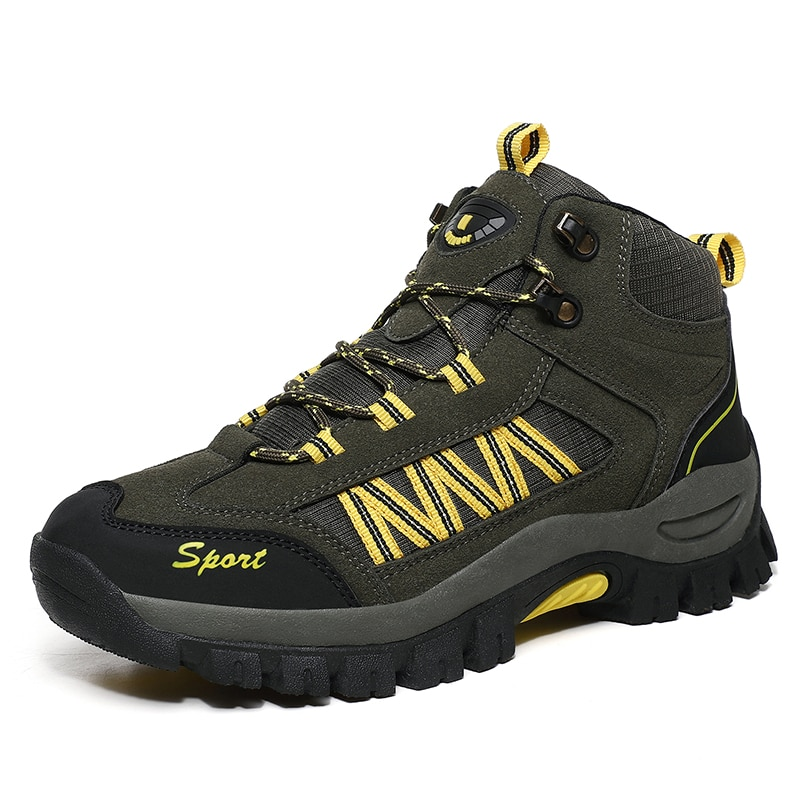 Hot Sale Waterproof Hiking Shoes Men 2021 Spring Shoes Walking Climbing Hiking Boots Mountain Sport Boots Hunting Mens Sneakers