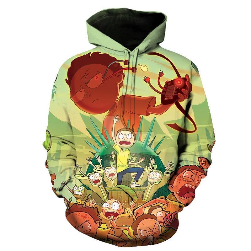 ¡Novedad de 2020! Sudadera con capucha de estilo harajuku para hombre y mujer con estampado de Rick y Morty en 3d de S-6XL