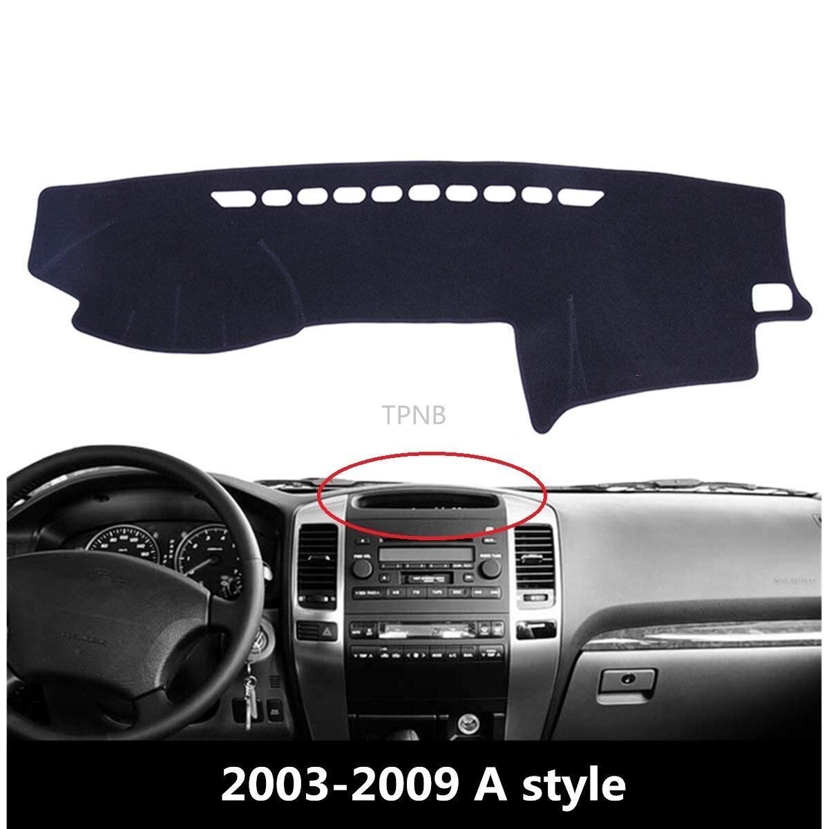 Para a Toyota Prado 120 2003 2004 2005 2006 2007 2008 2009 Instrumento Consola Mat Sombreamento Acessórios