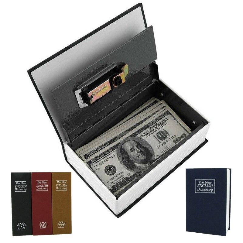 Secret Stash Money Safe Box Hidden Casket Book Box With Lock Secret Vault Password Small Safe Piggy Bank for Storing Money