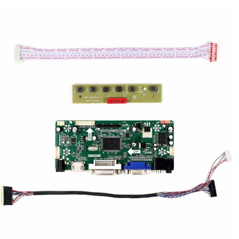 Latumab Nuevo LCD LED LVDS Placa de controlador kit para B156XW02 V6 + HDMI + DVI + VGA