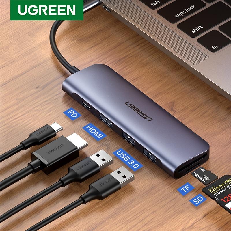 UGREEN USB C HUB Type C to Multi USB 3.0 HUB HDMI Adapter Dock for MacBook Pro Huawei Mate 30 USB-C 3.1 Splitter Port Type C HUB