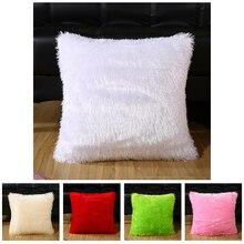 RULDGEE doux confortable en peluche solide taie doreiller de couleur offre spéciale accessoires pour la maison