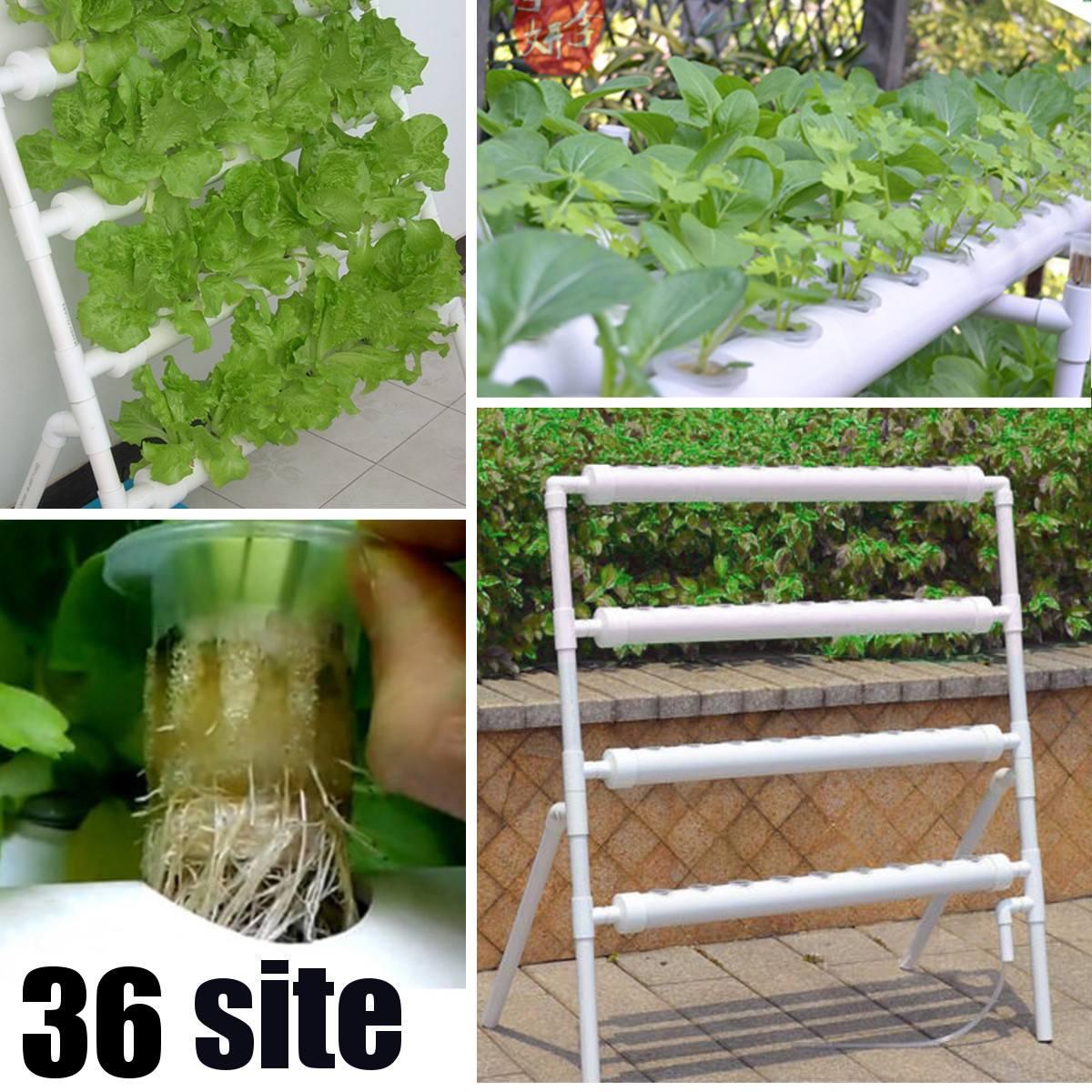 4 طبقات 36 مواقع الزراعة صناديق زراعة هيدروجينية أفقية عدة حديقة النبات زراعة الخضروات تنمو صندوق نظام ثقافة المياه العميقة