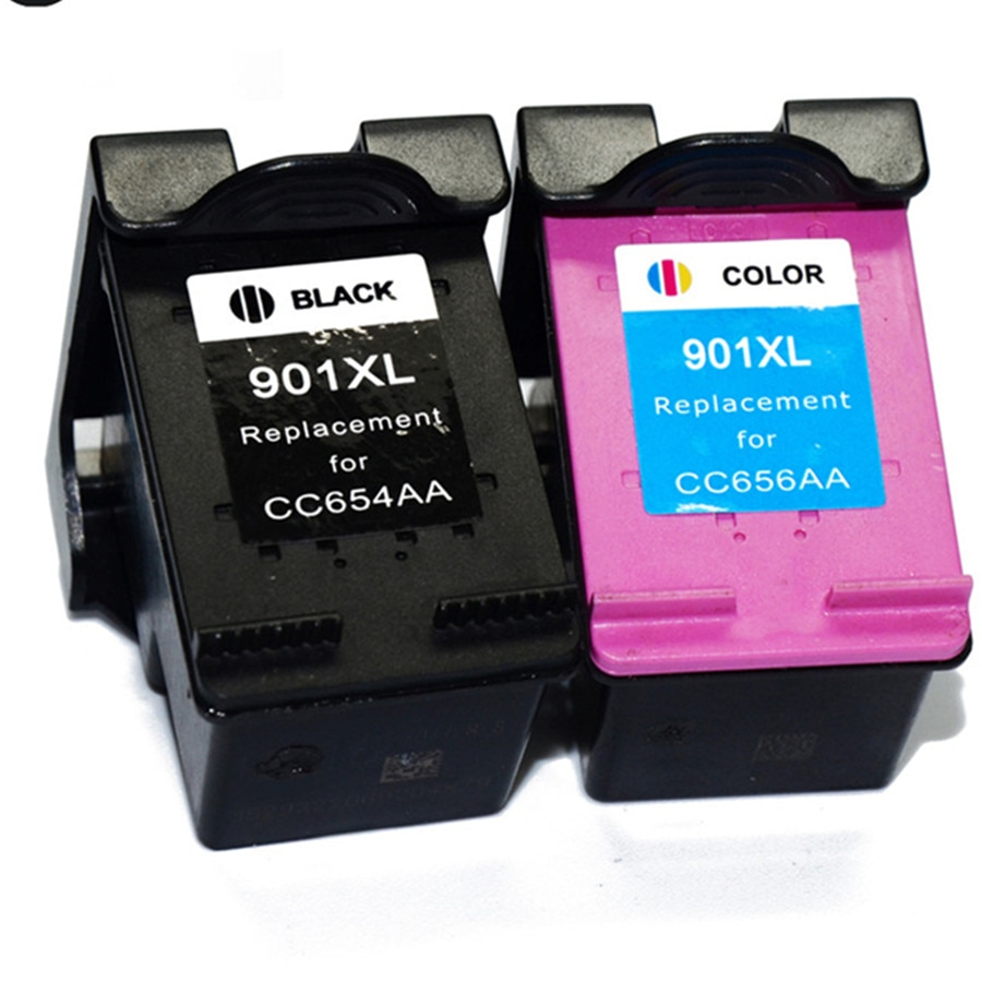 2pk 901XL para HP 901 HP901 XL cartucho de tinta para HP Officejet 4500 J4500 J4540 J4550 J4580 J4640 J4680 impresora