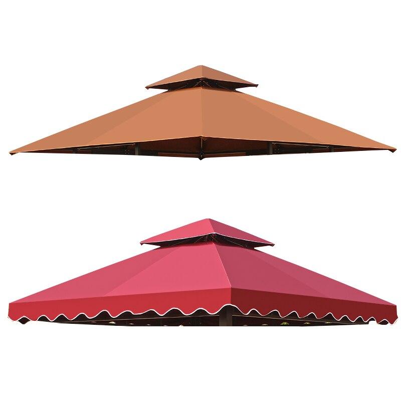 في الهواء الطلق حديقة الشاطئ خيمة للتظلل من الشمس شرفات المراقبة مظلة مضادة للماء سرادق المظلة الظل رداء حفلات أبيض كبير تسليط أضعاف سقف