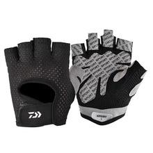 Summer Men Fishing Gloves Anti-Slip Full Finger Durable Outdoor Sports Mesh Fabric Breathable Thin B