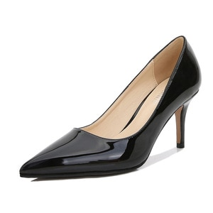 Ladies High Heels  Smooth Leather Women Shoes Pumps Pointed Toe Stiletto Heels 11cm Fashion Female Shoes