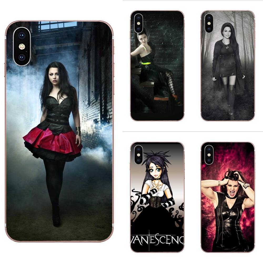 TPU suave Ultra delgado Evanescence Amy Lee oscuro Rock para Apple iPhone 4 4S 5 5C 5S SE SE2020 6 6S 7 7 8 11 Plus Pro X XS X Max XR