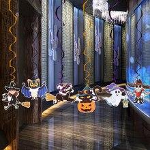 Costume 6 pièces dessin animé   Mignon escargot coloré rotatif, citrouille fantôme sorcière, tige araignée suspendue, pendentif ornement stylo décoration dhalloween