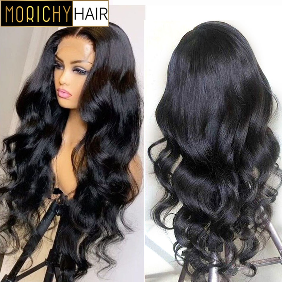 Morichy Body Wave Lace Front Wig 4x4 Lace Closure Wig Pre Plucked Wig Brazilian Lace Front Human Hair Wigs for Women