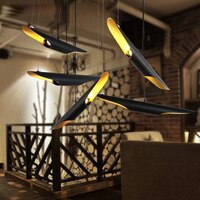 Hanging lights for dining room bedroom Coltrane cord pendant lamp Postmodern Duplex villa Nordic Bevel pendant light