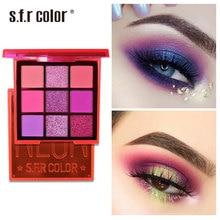 9 Color Glitter Diamond Eyeshadow Palette Metallic Nude Matte Eye Shadow Make Up Pigmented Makeup Cosmetics Pallete