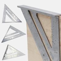 Aluminum Alloy Triangle Square Ruler Measurement Tool Speed Protractor Miter For Carpenter Tri-square Line Scriber Saw Guide