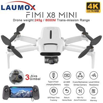 FIMI X8 Mini Drone GPS 250g-class drones 8km 3 Axis Gimbal With 4K HDR Camera Professional mini drone Foldable RC Quadcopter