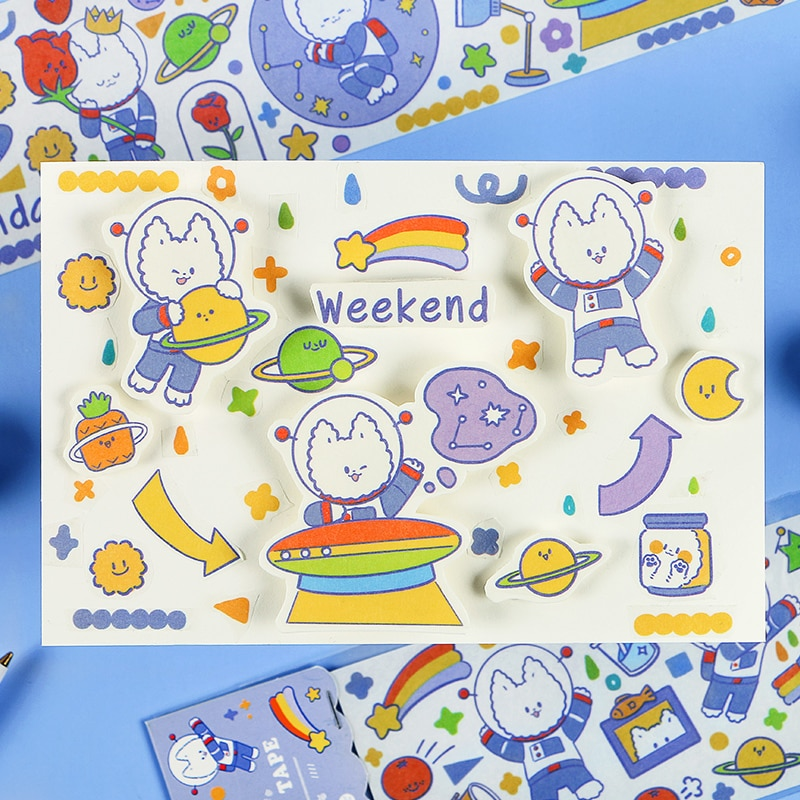 Kawaii японский мультяшный персонаж декоративная лента мультфильм васи лента Сделай Сам скрапбук лента школа Изысканный Канцелярские подарки