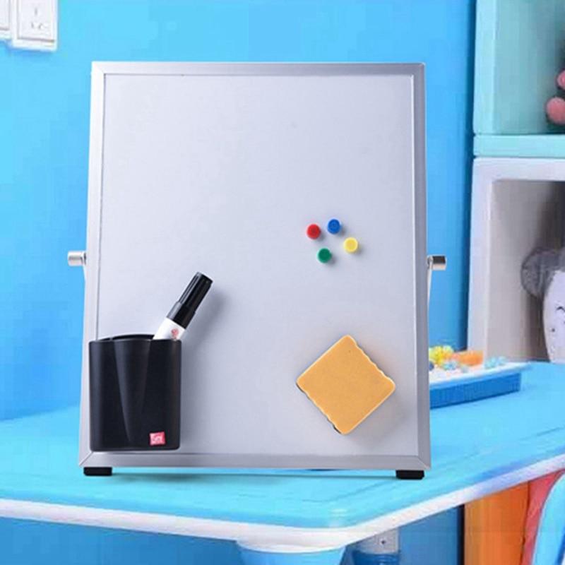 Магнитная белая доска, офисные и школьные принадлежности, белая доска, Двухсторонняя доска для письма с ластиком, магнитные кнопки для пись...