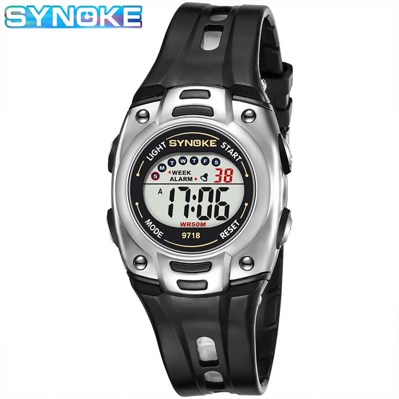 ohsen brand mens boys digital sports watches waterproof rubber band wristwatch led colorful backlight red army kids watch gift SYNOKE Kids Digital Watches Waterproof Children's Digital Sports Watch LED Alarm Clock Girls Boys Electronic Wristwatch Kid gift