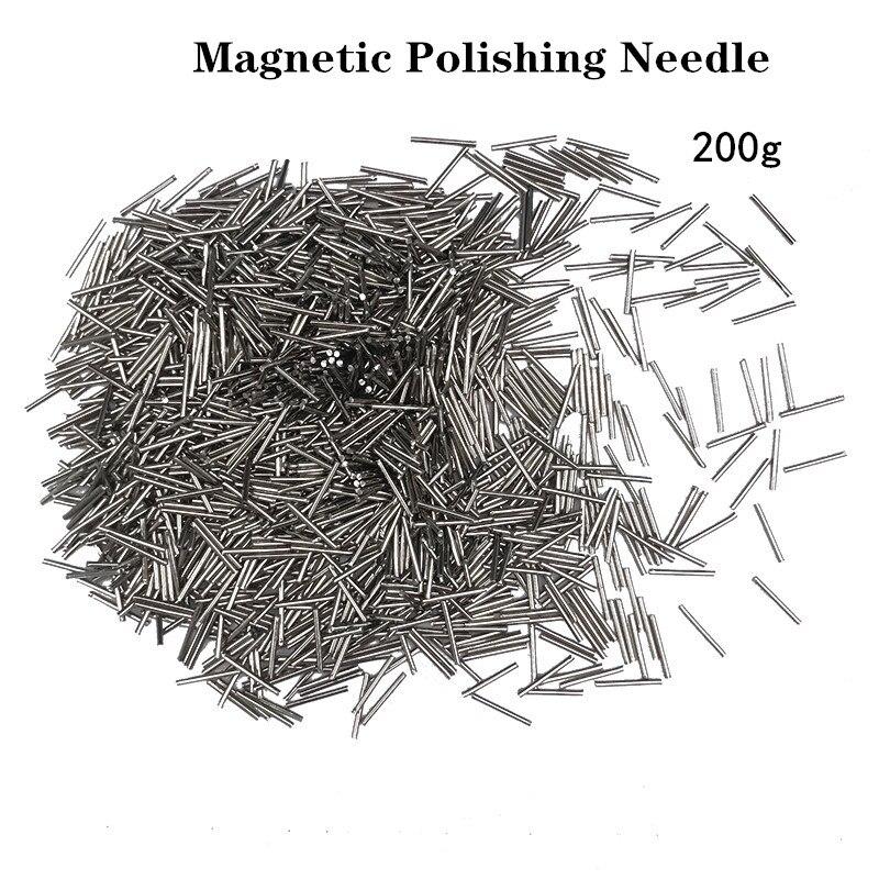 200g agulha de polimento magnético, pino de polimento de aço inoxidável, jóias que fazem a limpeza ferramenta de gravura ferramentas de polisher de jóias