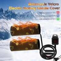 universal electric heated handlebar grip pad 12v heating handlebar 3 heats winter grip atv motorcycle accessories fast delivery