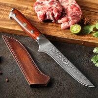 Нож для разделки рыбы из Дамасской стали, длина 29 см. #5