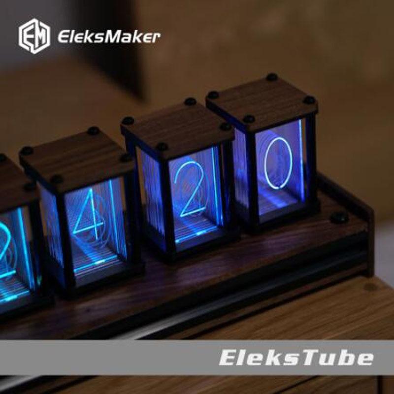 RGB pseudo glow tube clock DIY kit LED desktop creative decoration 4 orders