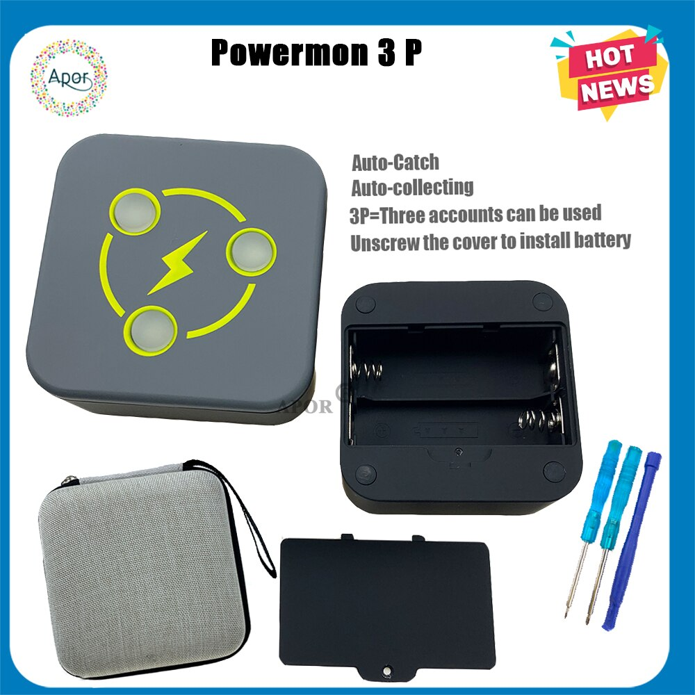 ¡Novedad! Pulsera Bluetooth POWERMON 1P 2P 3P para Pokemon GO Plus, batería extraíble, Dropshipping