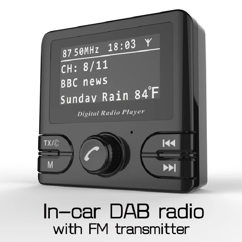 Receptor de Radio de coche Dab + Retro, adaptador de Bluetooth Dab,...