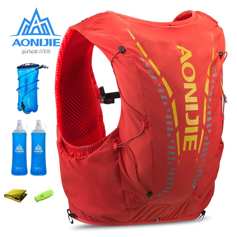 AONIJIE 962 на открытом воздухе 12L легкий гидратации рюкзак сумка жилет 1.5L гидратационная емкость для Пеший Туризм Кемпинг бег марафона