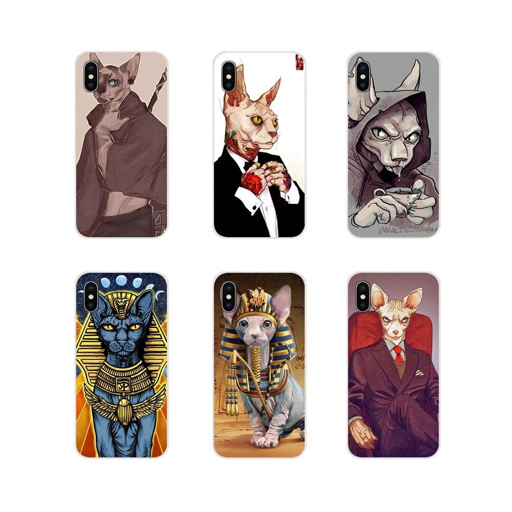 Tattoo Sphinx Cat Accessories Phone Shell Covers For Huawei Honor 4C 5C 6X 7 7A 7C 8 9 10 8C 8S 8X 9X 10I 20 Lite Pro