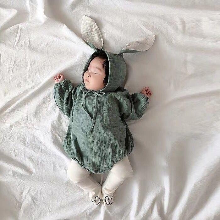 Pudcoco baby girls ropa encantadora recién nacido bebé niñas mameluco manga larga Babygrow mono conejo oreja ropa con gorro trajes