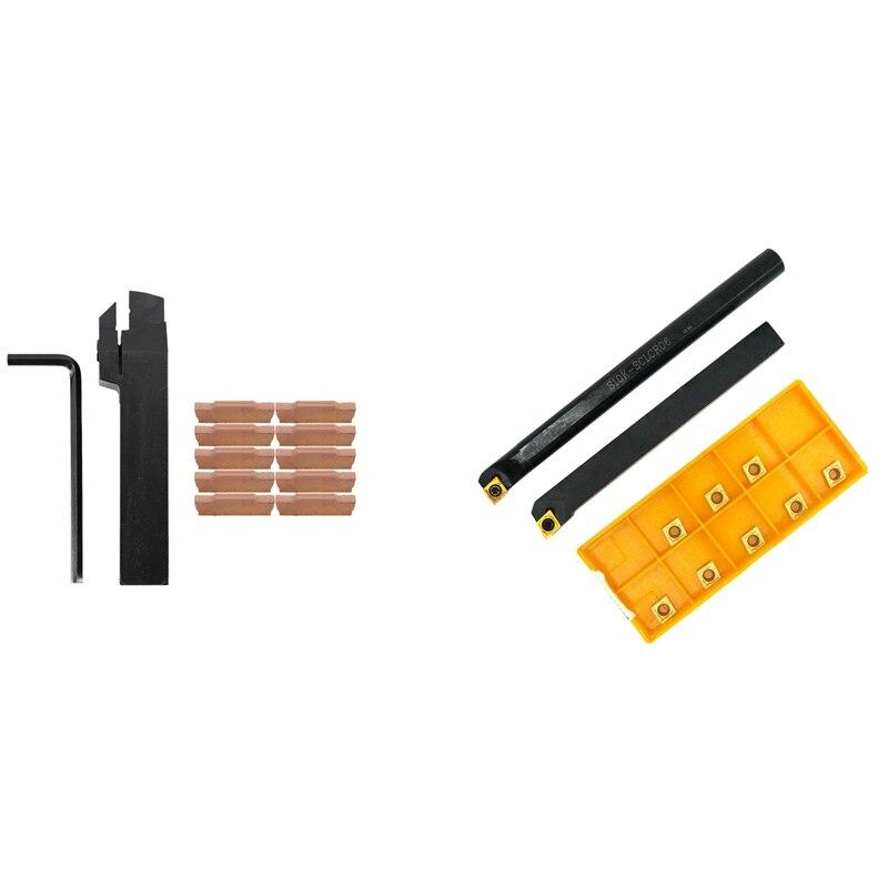 10X Mgmn300-M إدراج + Mgehr2020-3 اليد اليمنى حامل أدوات عمود تخريم و 1 مجموعة SCLCR 1010H06 S10K-SCLCR06 مخرطة أداة