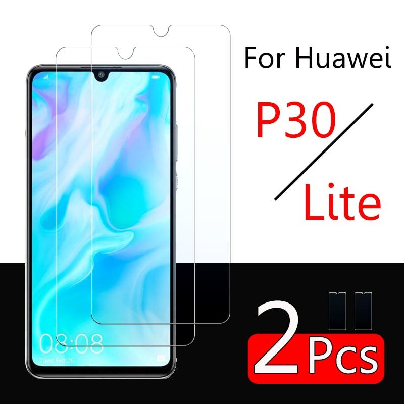 2 uds p30 lite armor de vidrio para Huawei p30lite protector de pantalla huavei hawei p 30 lite luz 30p vidrio templado película protectora 9h