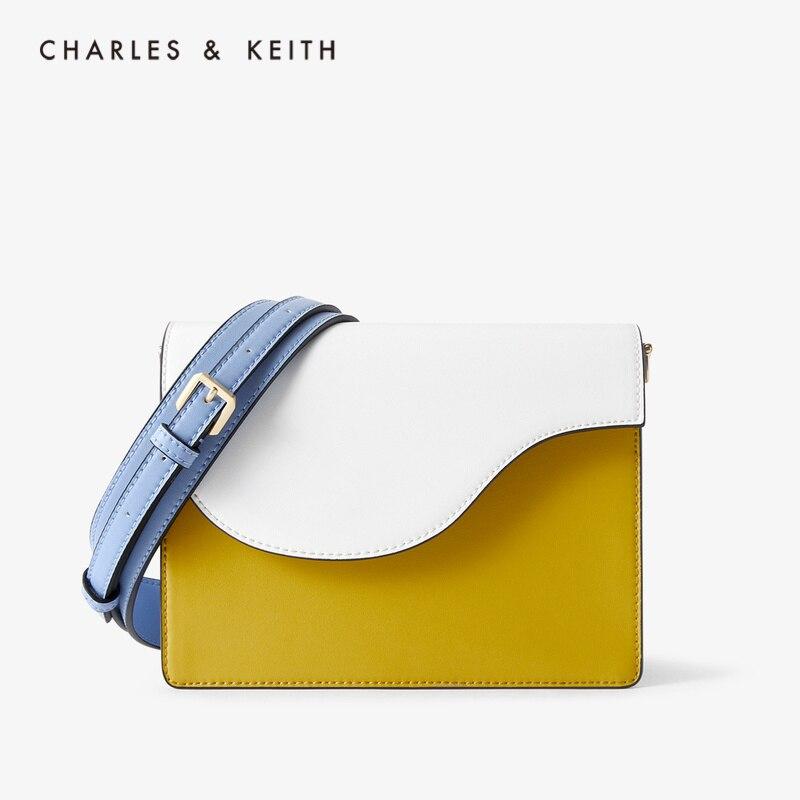 CHARLES&KEITH Новинка на Лето2020 CK2-20781228Женская сумка на плечо Дамская сумочка нерегулярая сумка с Откидной крышкой