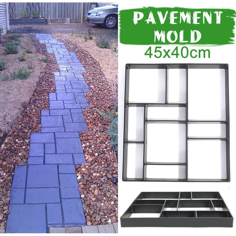 Cuadrado negro pavimento DIY molde piso molde de pavimentación de piso de cemento molde Paseo del jardín pavimento de hormigón molde envío gratis