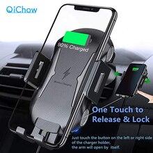 Qi voiture rapide chargeur sans fil pour iPhone 8 8 plus XS 7.5W 10W voiture chargeur sans fil pour Samsung Galaxy S8 S9 S10 Note 9 chargeur