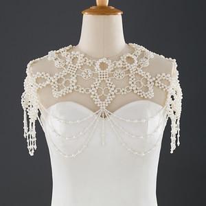 ZMG09 Wedding Shawl White Cape Women Cape Pearl Wedding Cape Hooded Dress Bolero for girls Cape Muslim Wedding Shawl