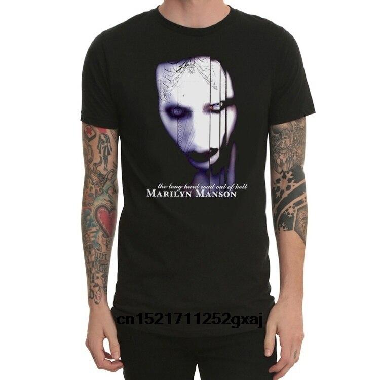 Camiseta a la moda de Marilyn Manson anticrist Superstar Punk Rock camiseta divertida e informal para mujer