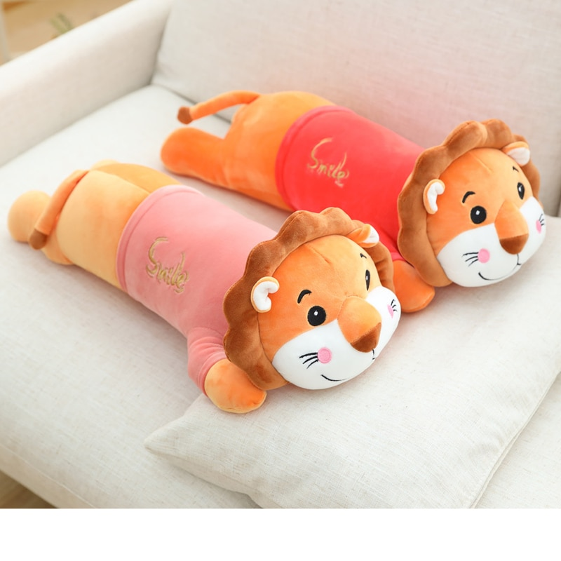 dropshipping cute kawaii cat with bow plush dolls toys gift stuffed soft doll cushion sofa pillow gifts xmas gift party decor 1 pcs 55-75cm Cute Lion Plush Toys Soft Stuffed Animal Plush Lion Doll Soft Toys Animal Cushion Sofa Pillow Toys Xmas Gift