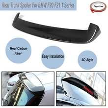 Full Carbon Fibre M Leistung 3D Kofferraum Auto Lip Dach Top Spoiler Flügel Mit Band Für BMW F20 F21 1 serie 2010-2015