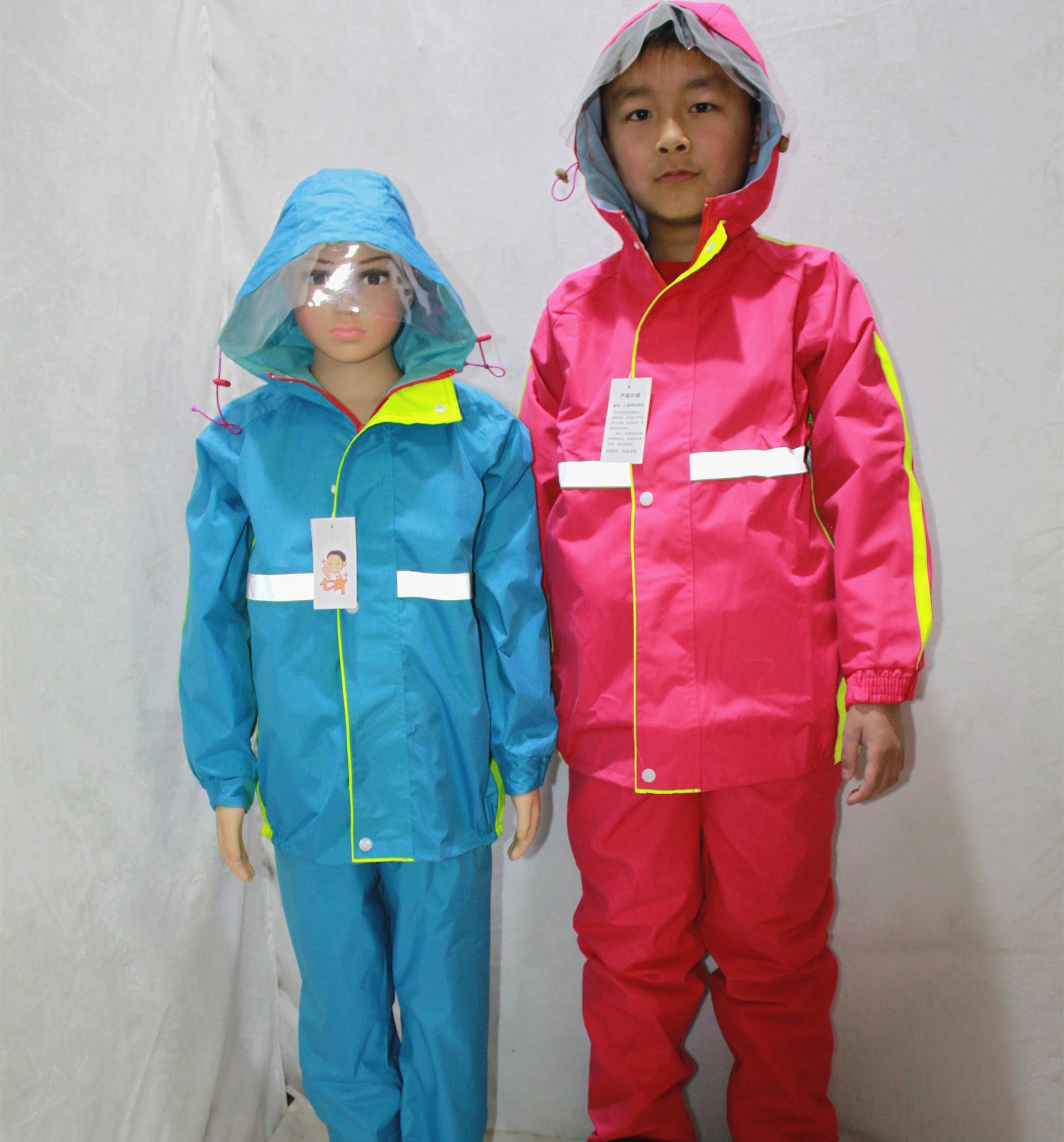 Chubasquero Para niños y niñas, de doble capa Traje impermeable, abrigo de...