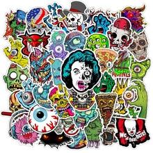 10/30/50PCS Mixed Horror Series Skull Zombie Cartoon Stickers Bike Skateboard Guitar Laptop Luggage Waterproof Joke Stickers