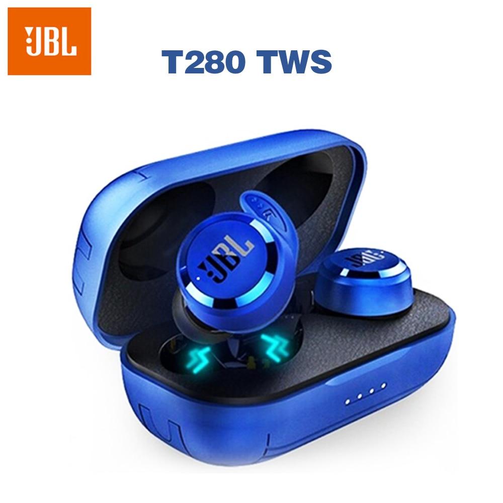 JBL-auriculares inalámbricos T280 con Bluetooth, dispositivo de audio TWS, deportivo, de graves...