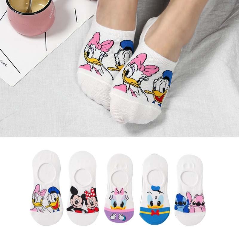 10 pieces = 5 pairs Korea Summer socks women Cartoon Animal bear mouse Socks Cute Funny Invisible cotton Ankle Socks Size 35-41