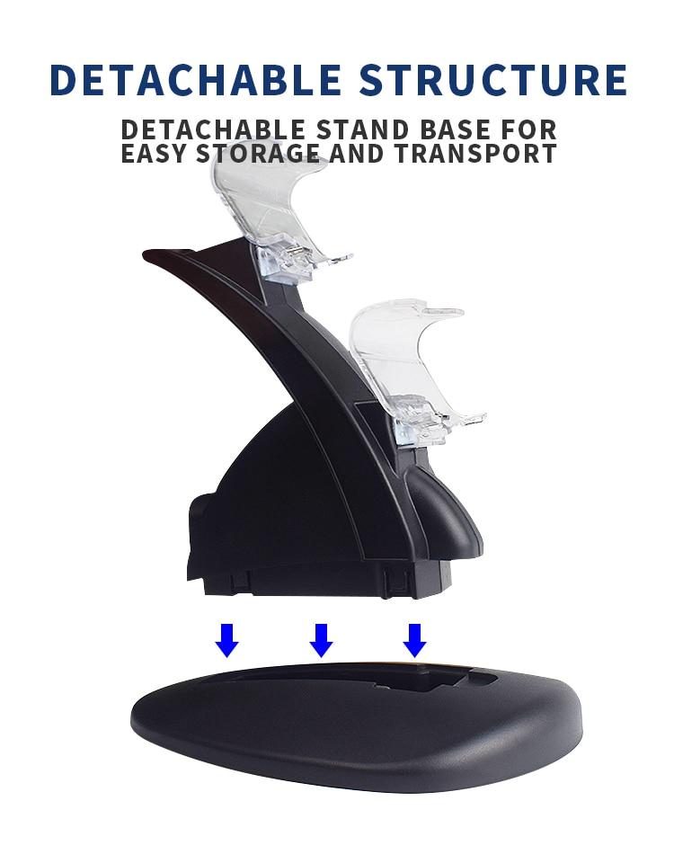 Data Frog Controller Charger for PlayStation 4 LED Dual USB Charging Dock Station for Dualshock 4/PS4 Slim Pro Gaming Controller enlarge