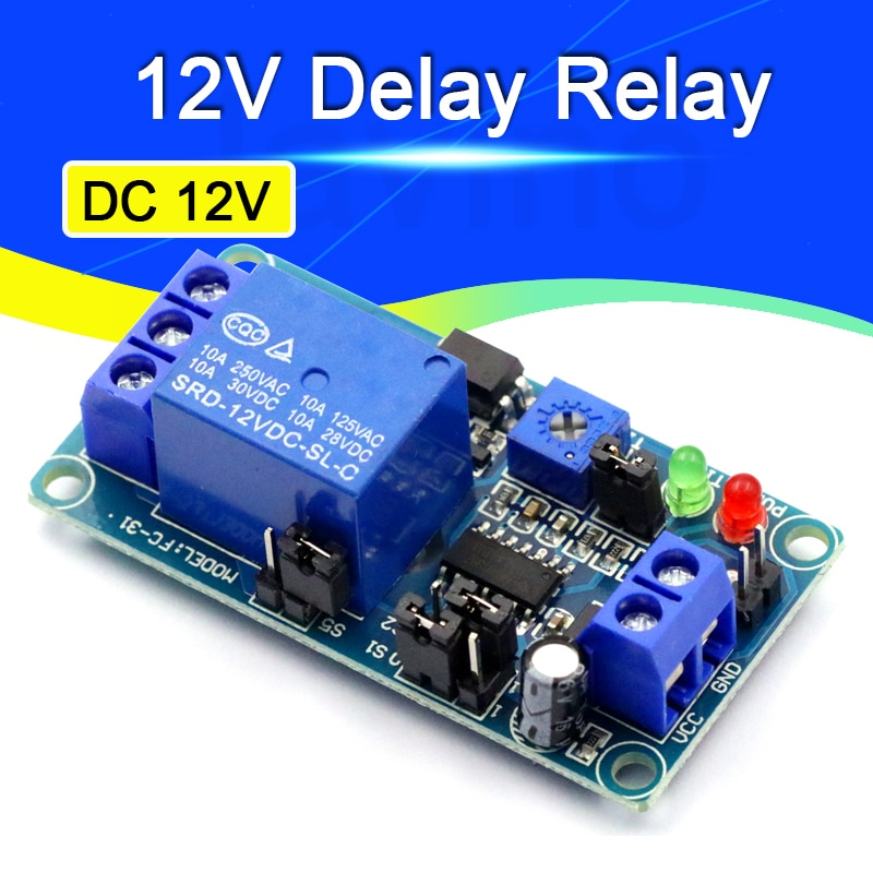 Высокое качество, реле задержки включения/задержки выключения, модуль переключателя с таймером, постоянный ток 12 В