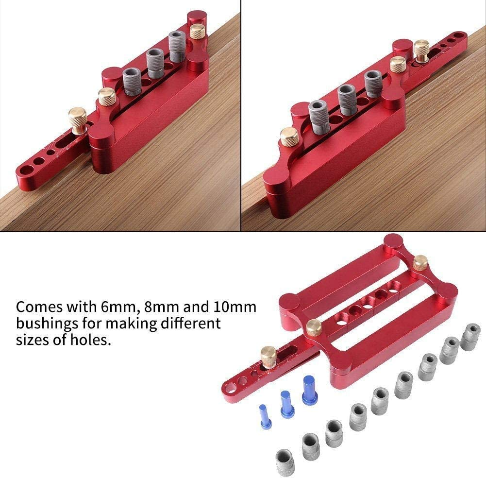 Doweling Jig Kit for Woodworking 10/8/6mm Self-centering Woodworking Doweling Jig Kit for Woodworking  Wood Dowel Puncher Locato